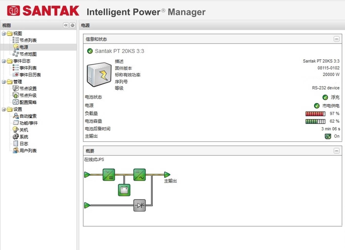 山特IPM智能电源管理软件